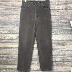 Vtg Levi's 634 High Waisted Brown Men Jeans 36/34